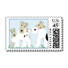 Wire Fox Terriers Postage Stamps