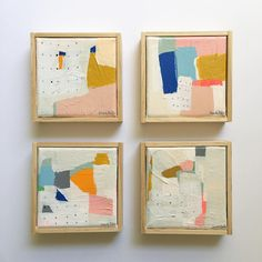 """4x4"""" abstracts by Sarah Golden"""