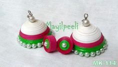 Jhumaka Quilling Earrings, Quilling Jewelry, Paper Earrings, Paper Jewelry, Quilling Tutorial, Quilling Ideas, Quilling Designs, Paper Quilling, Silk Thread Necklace