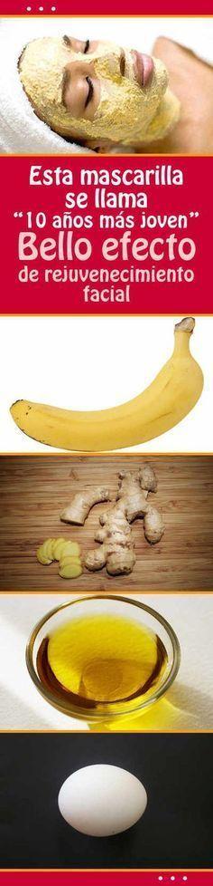 Mascarilla de plátano y jengibre #mascarilla #casera #facial #rejuvenecimiento #arrugas #rostro #piel #joven