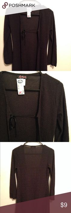 New with Tags Black Cardigan Gauze Style 🎀Clearance 🛍 Very cool Black Cardigan ☠ new with tags Spoiled Girl Sweaters Cardigans