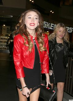 Noah Cyrus, Miley's Little Sister, Celebrates 13th Birthday In Mini Dress, Red Lipstick