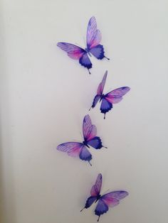 3D Butterfly Wall Art 4 Presented in an organza gift bag Butterflies represent new beginnings and would make a perfect gift for any