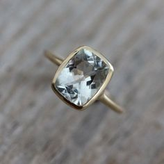 Cushion Aquamarine Ring, Rose Gold Engagement Ring, March Birthstone Ring for Her, Aquamarine Rose Gold Jewelry, Eco Gold Bezel Ring by onegarnetgirl on Etsy https://www.etsy.com/uk/listing/81124643/cushion-aquamarine-ring-rose-gold