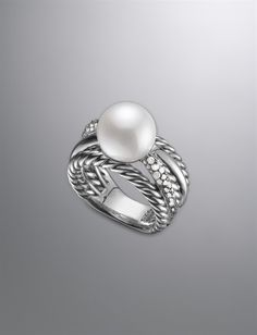 David Yurman | Women | New Arrivals: Pearl Crossover Ring - Beautiful and classic! - oh my gosh. NEED.