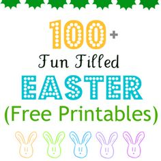 100+ #FREE Easter #Printables! I did atleast 2 of these printables. I love her site and the way she showed a picture of every printable not just a link.
