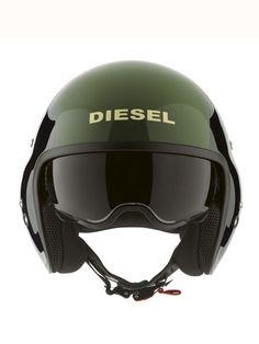 Great Helmet from DIESEL: HI-JACK BLACK/GREEN