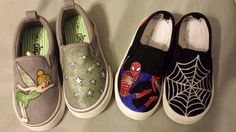 Hey, I found this really awesome Etsy listing at https://www.etsy.com/listing/165809059/kids-painted-canvas-shoes-tinkerbell-and