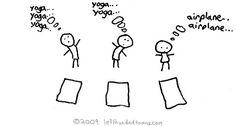yoga airplane