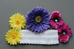 Spring Flower Set includes Headband and 5 by Passion4Expression, $10.00