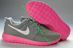 sports shoes 29ec5 5885c Nike Roshe Run Womens Wolf Grey Pink White 511882 002 Nike Sweatshirts, Nike  Fashion,