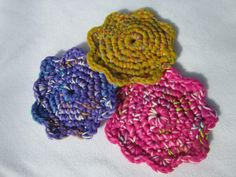 Crochet Nylon and Cotton Kitchen Scrubbie by crochetedbycharlene, $5.00 #etysns #boebot