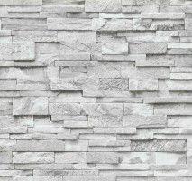 Vliestapete Stein 3D Optik grau weiß Mauer P+S 02363-30