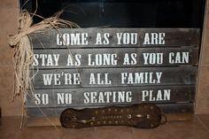 Rustic Wedding Wooden Signs by la121intx on Etsy, $70.00