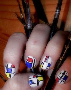 Mondrian inspired nails.
