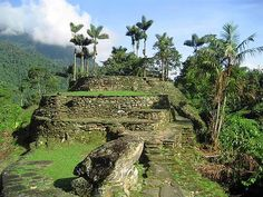 """Ciudad Perdida (""""Lost City"""") is the archaeological site of an ancient city in Sierra Nevada, Colombia discovered by non-locals in 1972. It is believed to have been founded around the year 800 ACE, some 650 years earlier than Machu Picchu. This particular location is also known as """"Buritaca""""; or, """"Teyuna"""" by the natives. The Kogi (among other tribes) claim this city as their origin place."""