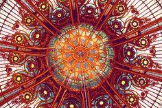 the Galeries Lafayette ceiling (Paris)