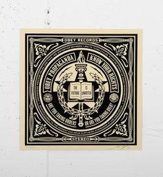 Shepard Fairey (Obey) - Print 23 • Available on soldart.com #shepardfairey #obey #print #screenprint #streetart #urbanart #obeygiant #serigraphie #artprint #art #AndretheGiant #artgallery #future #book