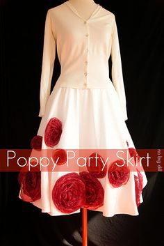 DIY Poppy Party Skirt (circle skirt)