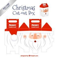 Santa claus cut out box I Free Vector