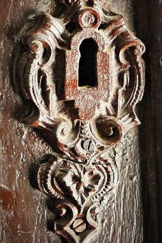 Keyhole of an old Mansion Door in Hungary