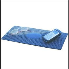 Non-Slip Car Mat-PVC Sponge mat is a great non-slip surface to hold your sunglasses, cell phone and other electronics in place on your dashboard. Can be custom trimmed to fit in smaller areas. Black