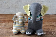Sew sock elephant by using this ultimate pattern and tutorial. Easy to sew with … Sew sock elephant by using this ultimate pattern and tutorial. Easy to sew with guide from pictures and instructions. Great as handmade gift Elephant Stuffed Animal, Sewing Stuffed Animals, Sewing Patterns Free, Free Sewing, Doll Patterns, Bear Patterns, Sock Elephant Pattern, Sewing Toys, Sewing Crafts