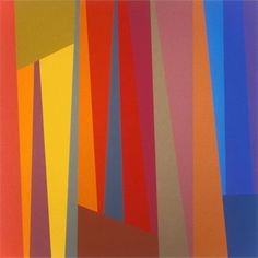 Would be a great quilt with solids. Karl Benjamin. #5, 1994, oil on canvas.