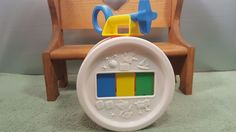 Vintage 1976 FISHER PRICE Drum Musical Toy  Xylophone Toy  Teddy Bear #FisherPrice