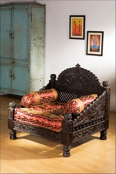 Home Furnishing :: Seating / Sofas - Monsooncraft Indian Bedding Store - Shop Velvet Cushions - Silk Bolsters Pillow Covers & Shawls
