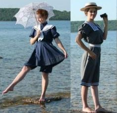 I am seeking an Edwardian Bathing Costume for my Steampunk Camp-ing experience during the Coldwater Steampunk Festival, which I might just wear all the time to go swimming as it very modest and more feminine than the modern swimsuit! Vintage Outfits, Vintage Fashion, French Fashion, Victorian Era Dresses, Steampunk Festival, Bathing Costumes, Vintage Swim, Swim Dress, Bathing Beauties