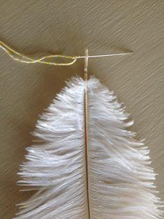 Feather Garland DIY - Crafts on Sea