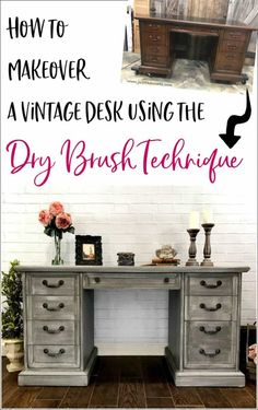 Why Hon File Cabinets Are The Only Option For Your Property Or Office Dry Brushing Furniture Tutorial With Video. Dry Brushing Is The Easiest Furniture Painting Technique. Get A Gorgeous Dry Brushed Painted Furniture Finish. Painted Furniture For Sale, Paint Furniture, Repurposed Furniture, Furniture Makeover, Home Furniture, Retro Furniture, Dresser Makeovers, Desk Makeover, Refinished Furniture