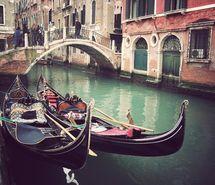 boat, bridge, italy, venice, vintage, water
