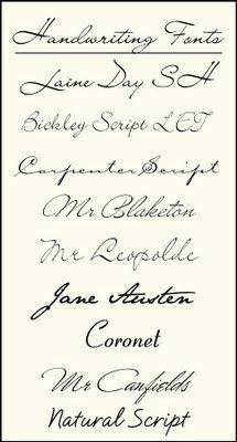 Handwriting Fonts for tattoo