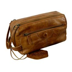 Toiletry Bag / Rodeo-washed 24-natural    Spacious cultural bag with double zipper closure, large opening, inner compartments, large zipper front pocket. Secured with plug-in lock, carrying handle    Leather, lining and metal parts * washed Rodeo cowhide, Eco friendly - natural tanning.     High quality old brass parts, high quality old brass zippers.     26x14x14 cm   Shop this product here: http://spreesy.com/elitstar/48   Shop all of our products at http://spreesy.com/elitstar…