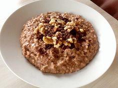 Snickers oatmeal havermoutpap recept, Fitness Meiden blog