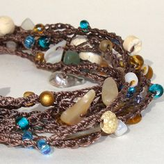 Free Jewelry Tutorials | How To Crochet Bead Necklace | Free Pattern & Tutorial at