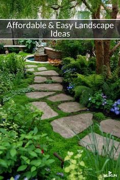 Easy And Affordable Solutions For That Backyard Flip                                                                   [Landscaping Ideas, Backyard Landscaping, Garden Ideas, Backyard Landscape Ideas On A Budget, Cheap Landscaping Ideas, Affordable Landscaping Ideas, Stone Pathway, Garden Fountain Ideas]