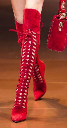 Knee high red boots - Love them!    ::::    PINTEREST.COM christiancross    ::::
