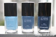 three shades of chanel blue