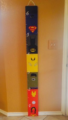 Combined the height ruler for kids with some superhero characters and came out awesome.