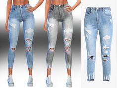 Saliwa's New Style Ripped Authentic Jeans