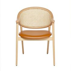 The Umami cane armchair features a backrest made from two bentwood beech pieces that curve together and combine with the legs to create a slender frame. The upholstered seat is comfortable, the cane back intriguing. The cane is woven by hand, adding an artisanal element into the mix and when paired with the light frame, creates a truly contemporary cane chair. Contemporary Dining Chairs, Fabric Suppliers, Artisan, Wood, Armchairs, Furniture, Legs, Home Decor, Create