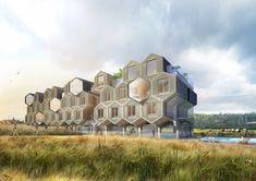 Hôtel Spa bio modulaire de 70 chambres (2013) - T design architecture