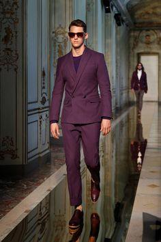 Ports 1961 SS 2014 men's deep purple/aubergine suit