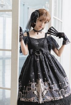 Grove Deer [The Lost Continent - Pardminenan] Lolita High Waist OP Dress Jumper Dress