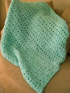 knit baby blanket--love this one!_size 15 needles