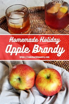 Homemade Apple Brandy! Make the colder Winter months warm up with this delicious homemade apple brandy recipe. Classic Cocktails, Fun Drinks, Classic Drink Recipe, Brandy Recipe, Apple Brandy, Best Cocktail Recipes, Best Food Ever