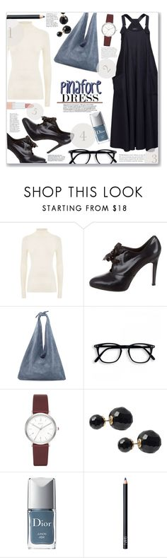 """Pick-A-Pinafore"" by jckallan ❤ liked on Polyvore featuring Polo Ralph Lauren, Gianvito Rossi, The Row, DKNY, Journee Collection, Anja, Christian Dior, NARS Cosmetics, Rimmel and pinafores"